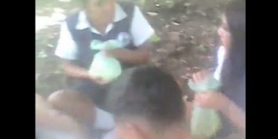 Viralizan video de alumnas drogándose