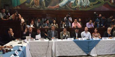 Taracena anuncia que retirarán iniciativa de ley de aceptación de cargos