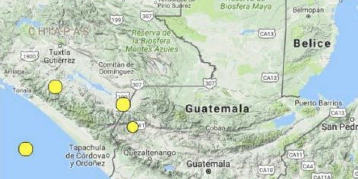 Temblor en Guatemala, hoy 29 de agosto de 2016