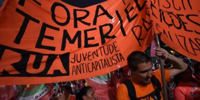 En las que se pedía la destitutición de Michel Temer Foto:AFP