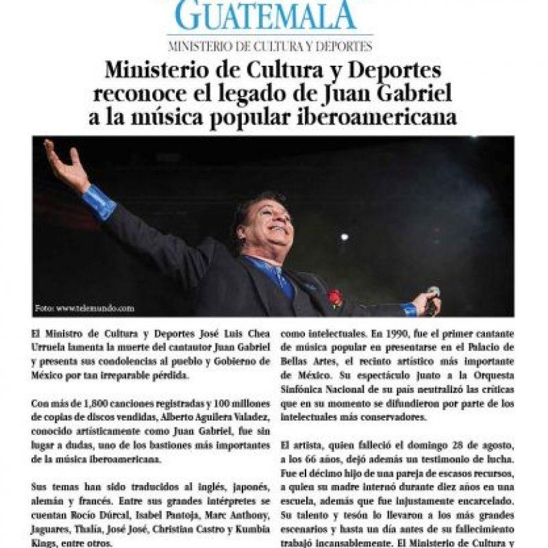El comunicado. Foto:Cortesía