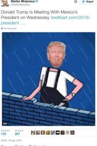 """""""Donald Trump se reunirá con el presidente de México este miércoles"""" Foto:Twitter.com"""