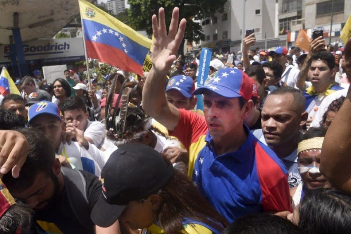 Estuvo el excandidato presidencial Henrique Capriles Foto:AFP