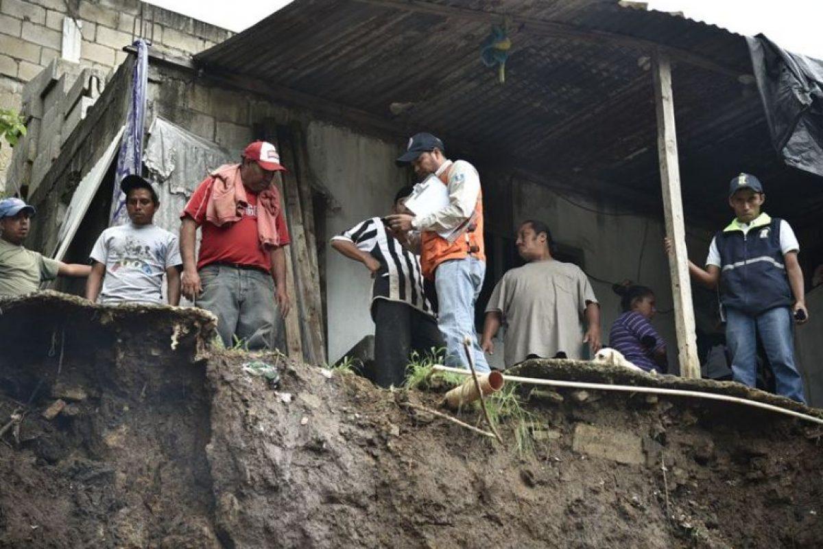 Daños en una vivienda en zona 6 de Mixco Foto:Conred