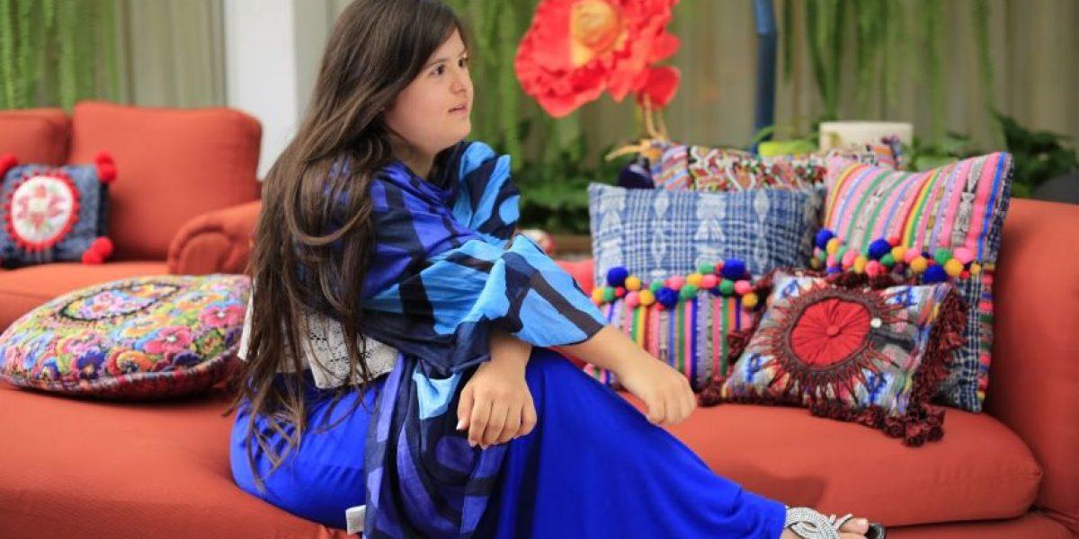 Isabella Springmuhl, diseñadora con síndrome de Down, estuvo con Camilo Egaña
