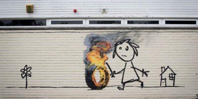 Algunas obras de Banksy Foto:Getty Images