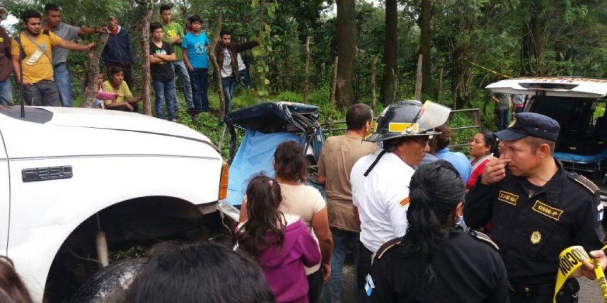 Accidente de tránsito en San Vicente Pacaya deja dos fallecidos