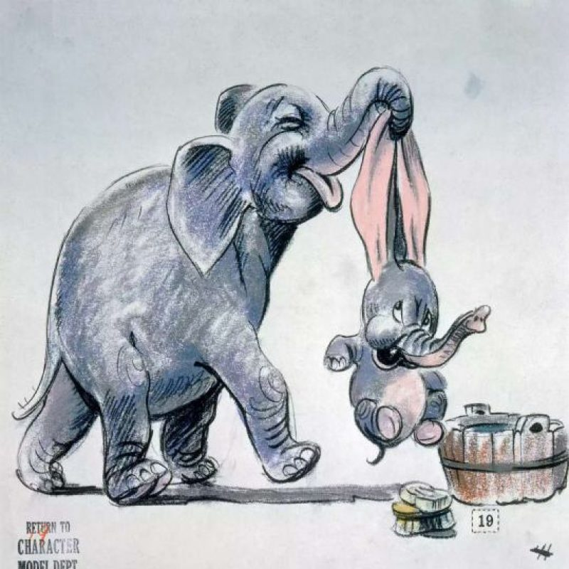 "Boceto para ""Dumbo"" de 1941. Foto:Taschen/Disney"