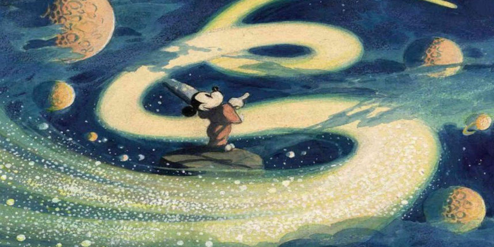 """Un boceto para """"Fantasía"""" o """"The Sorcerer's Apprentice"""" de 1940. Foto:Taschen/Disney"""