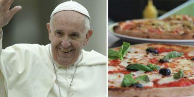 El Papa Francisco regaló pizza napolitana a los pobres