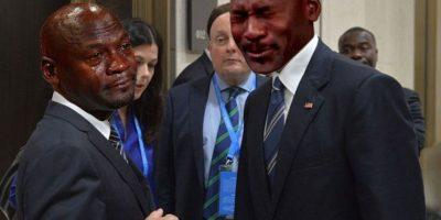 O pusieron a otros memes, como los de Michael Jordan llorando Foto:Imgur