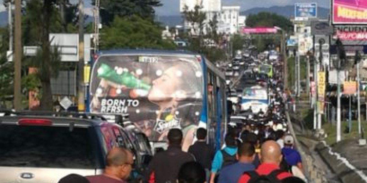 Bloqueo en puente Belice afecta tránsito en diferentes zonas de la capital
