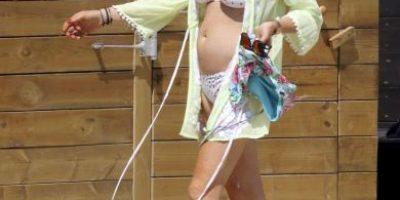 El bikini de Lindsay Lohan que la hizo lucir irreconocible