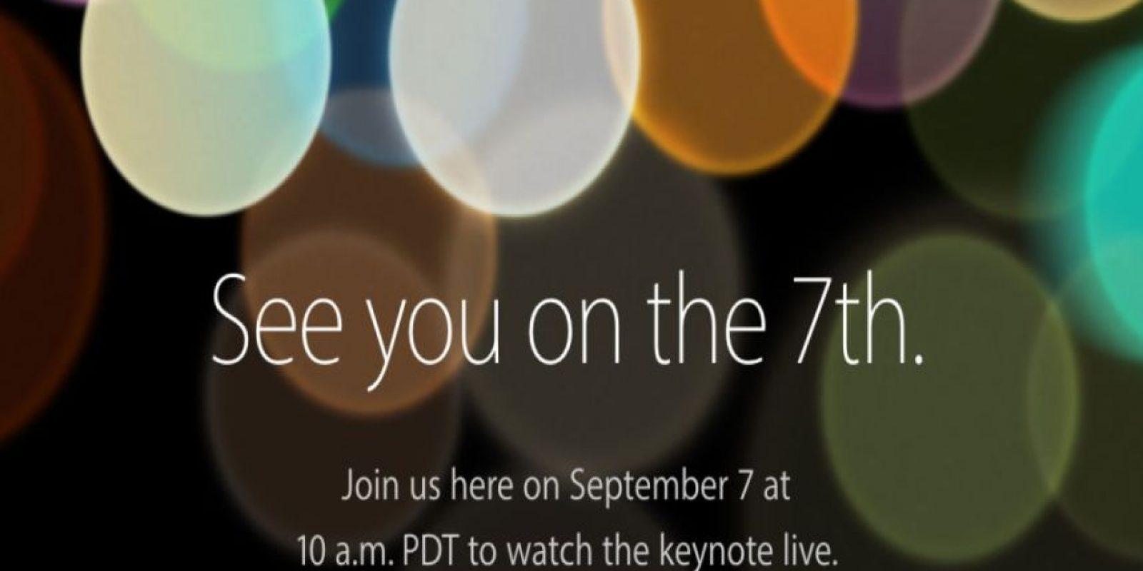 Apple presenta el nuevo iPhone 7. Foto:Apple