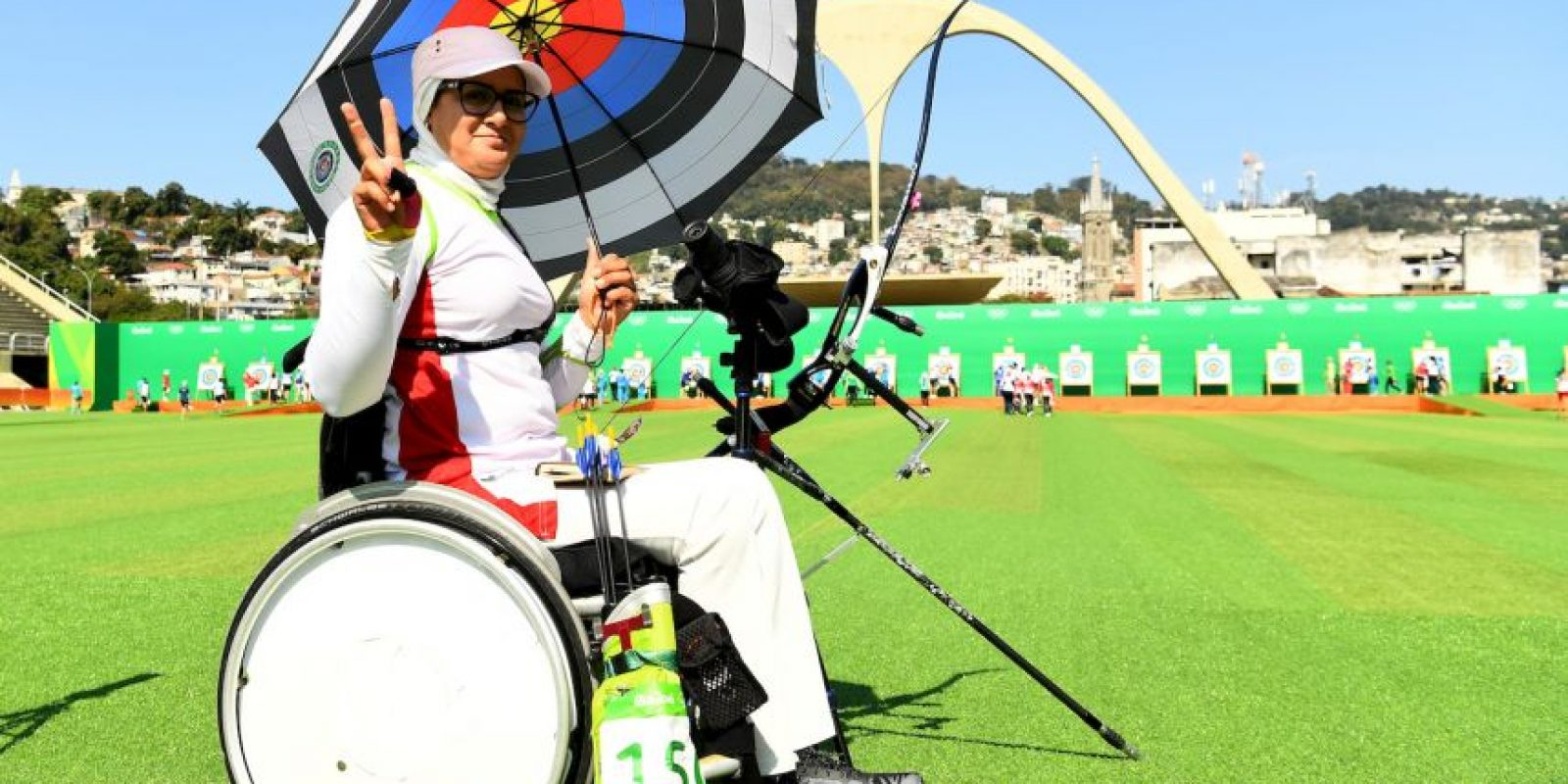 La iraníe participó en tiro con arco en los Juegos Olímpicos de Río y defenderá el título en los Juegos Paralímpicos Foto:Getty Images