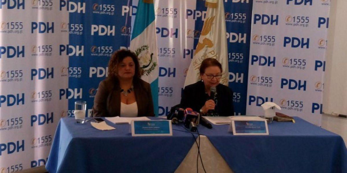 PDH se pronuncia ante ola de violencia en el país