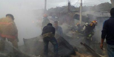 Incendio destruye locales en el mercado de Chichicastenango