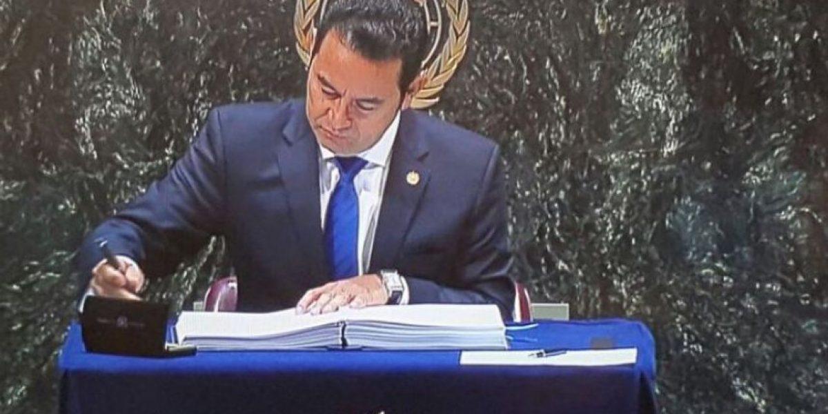 Jimmy Morales se reunirá con Joe Biden durante su visita a Estados Unidos por asamblea de ONU