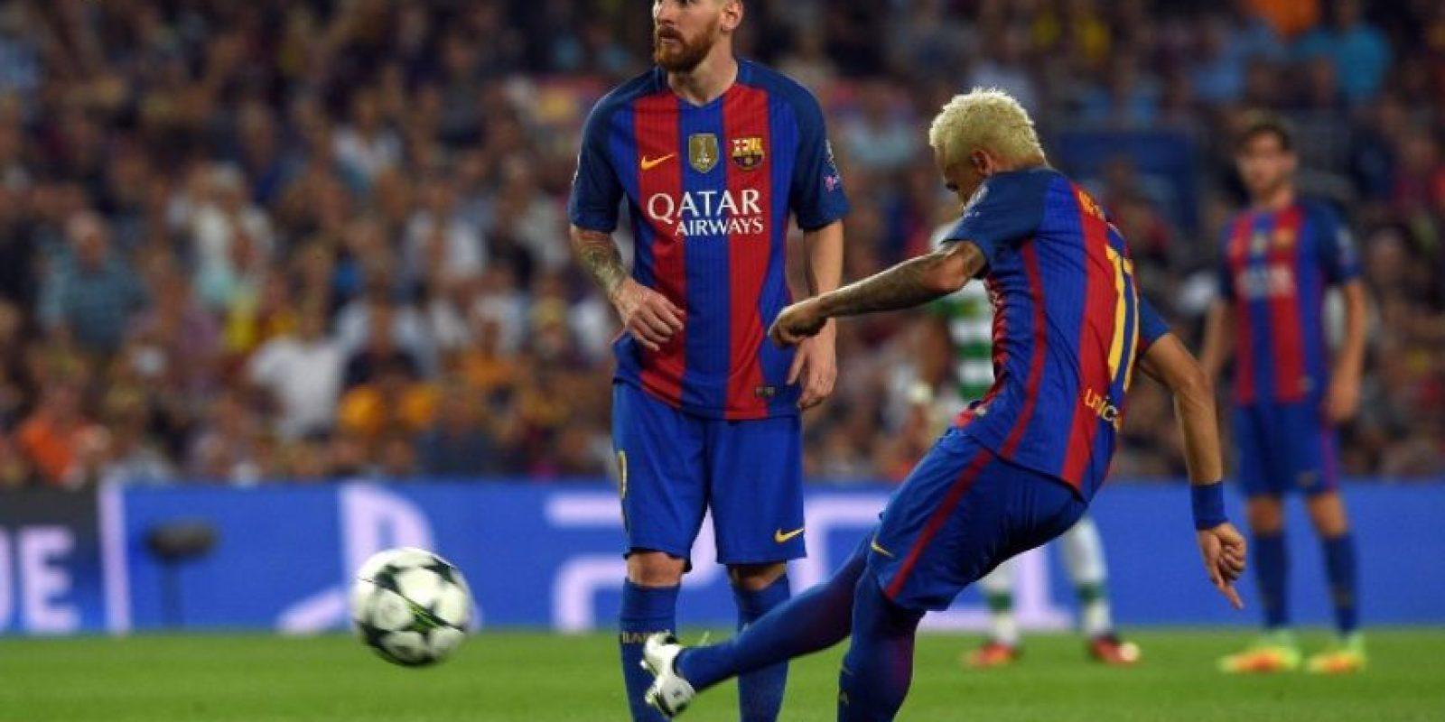 El cuadro azulgrana no tuvo problemas y le anotó siete al cuadro escocés. Foto:AFP