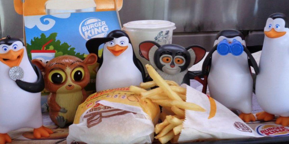 Desde Madagascar a tu casa, los Pingüinos llegaron a Burger King