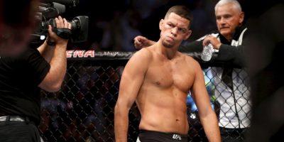 Getty Images Foto:Nate Díaz antes de caer en UFC 202 con Conor McGregor