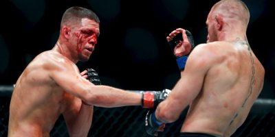 Getty Images Foto:Diaz después de perder con McGregor