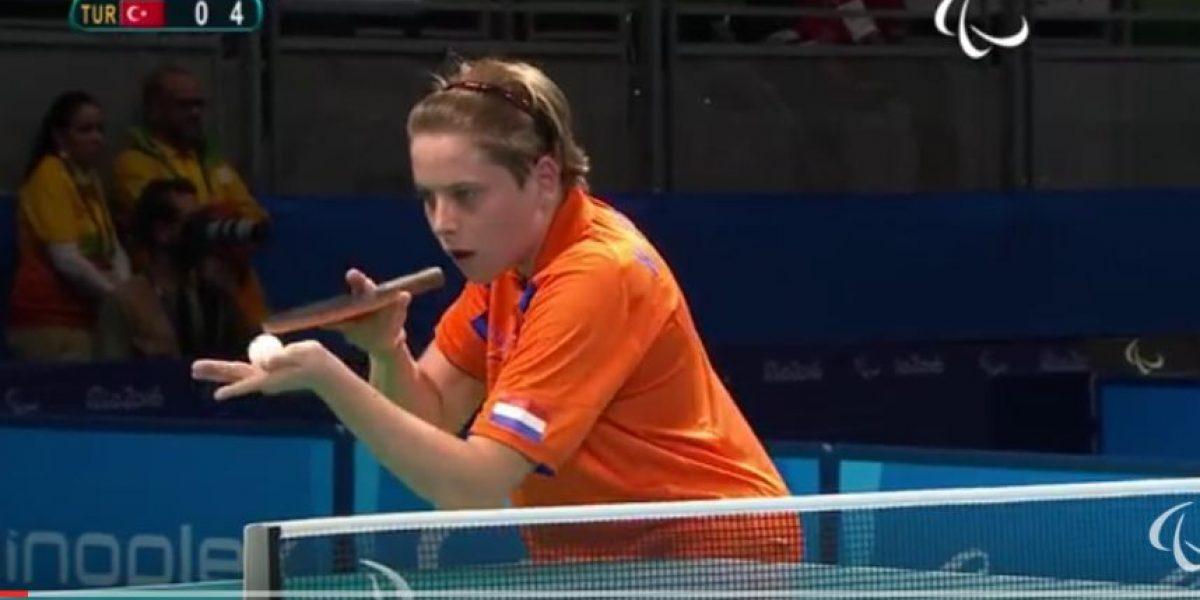 ¡Increíble video! Atleta hace lo impensable por un punto en los Paralímpicos