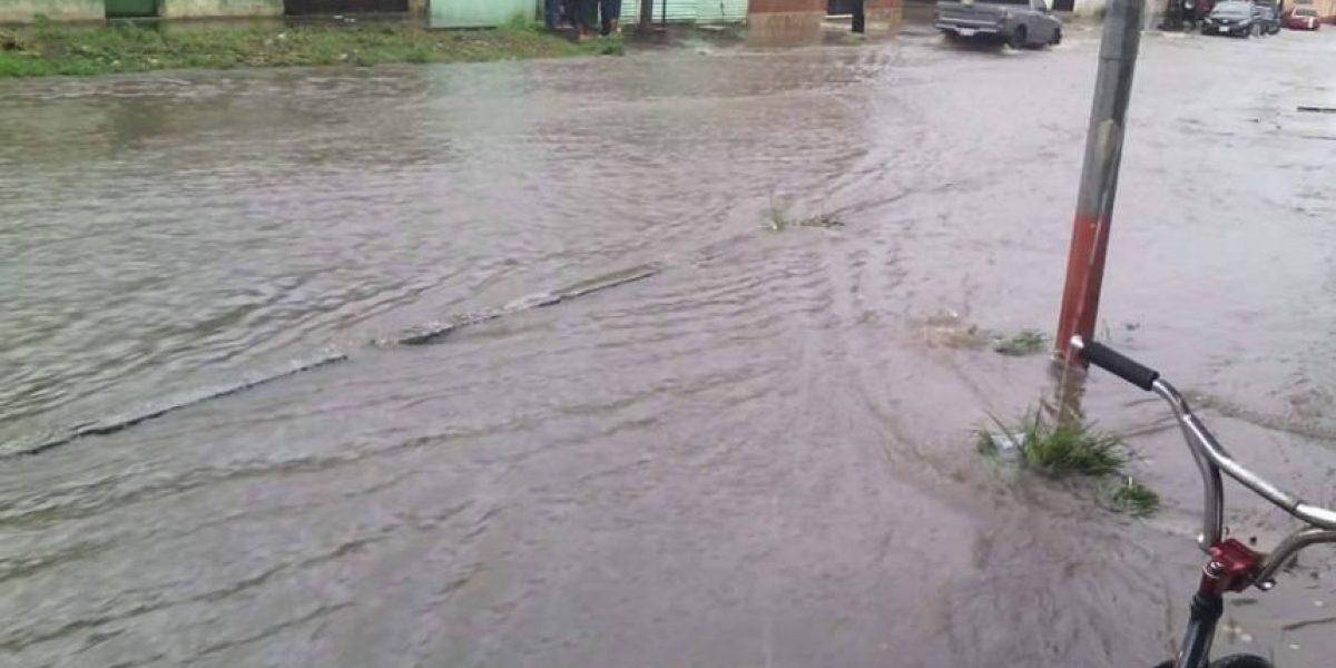 El sur de la ciudad capital se inunda