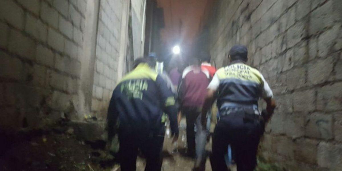 Comuna de Villa Nueva declara inhabitable una zona de alto riesgo y evacúa a dos familias