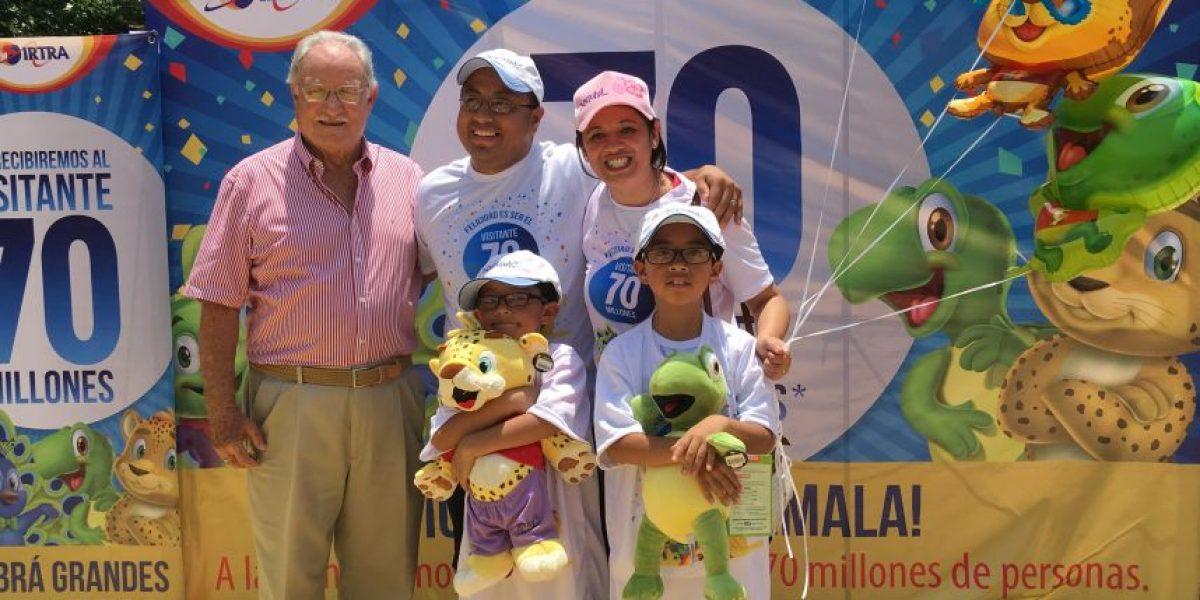 El parque del IRTRA Xetulul celebró los 70 millones de visitas