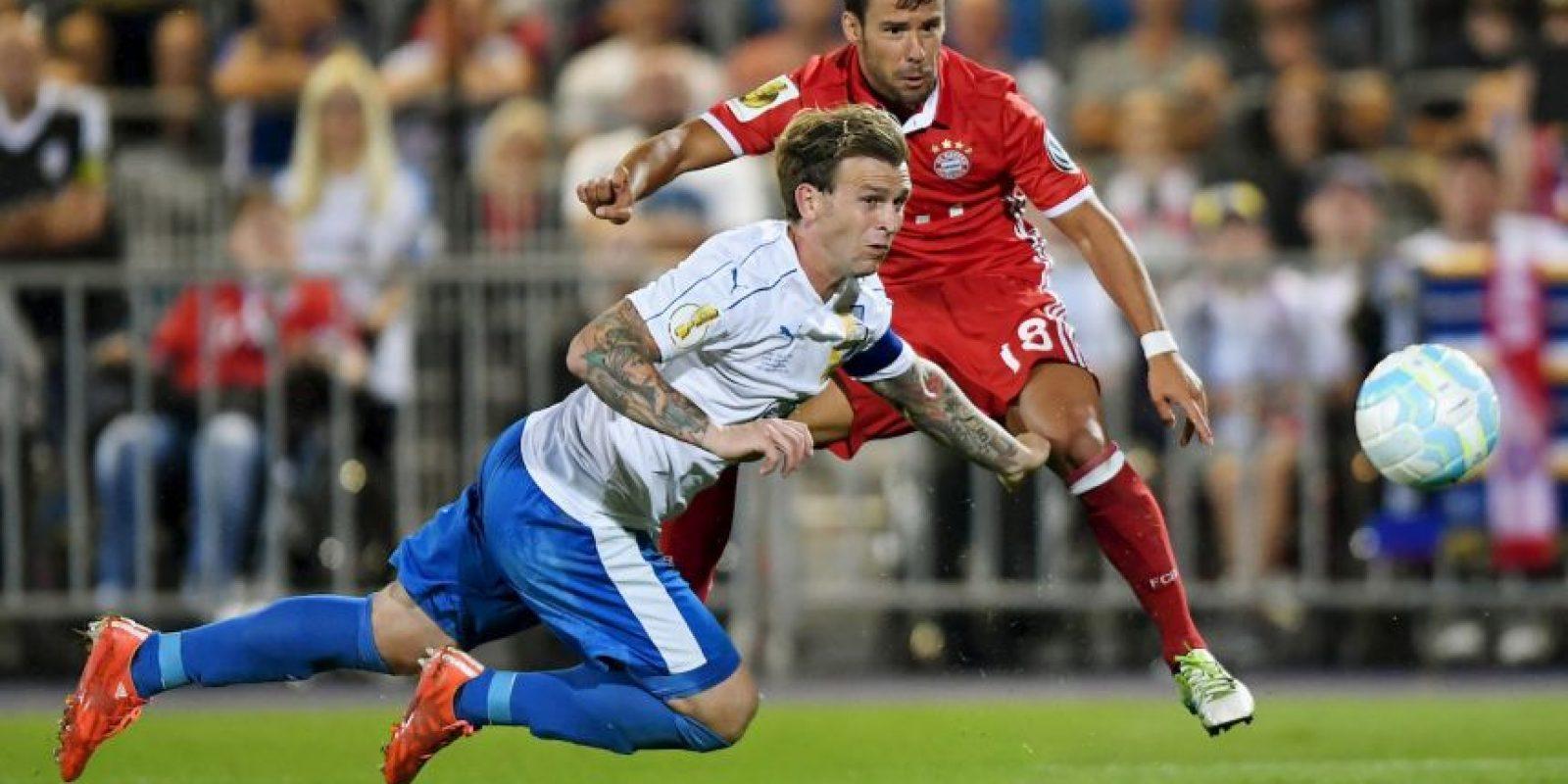 Ingresó en el segundo tiempo y se despachó una asistencia en la victoria del Bayern Munich por 5 a 0 Foto:Getty Images