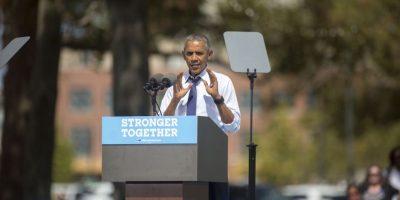 Esta semana se espera la reaparición de Hillary Clinton. Mientras tanto, en sus eventos de campaña estuvo el presidente Barack Obama Foto:Getty Images