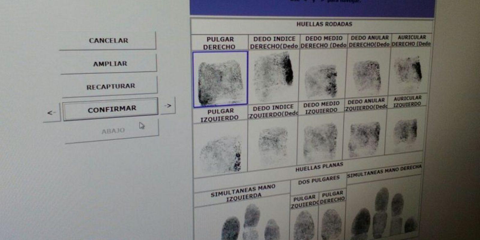 Las huellas dactilares. Foto:PNC