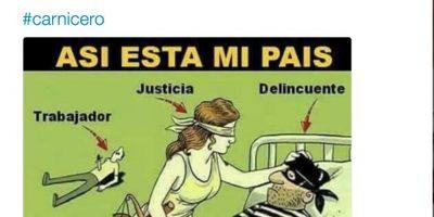 Twitter Foto:Piden la liberación del carnicero