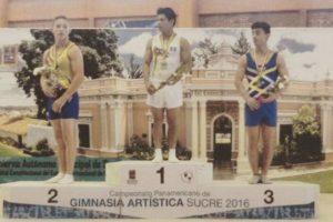 Jorge Vega se colgó su segunda presea de oro en el evento que se disputa en Sucre. Foto:Gimnasia Latina