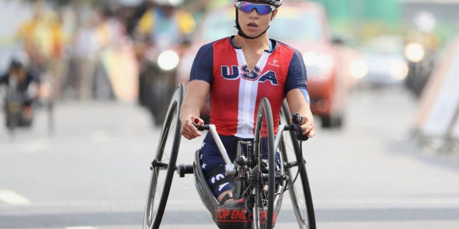 Getty Images Foto:Ella es Oksana Masters, atleta paralímpica en Rio 2016.