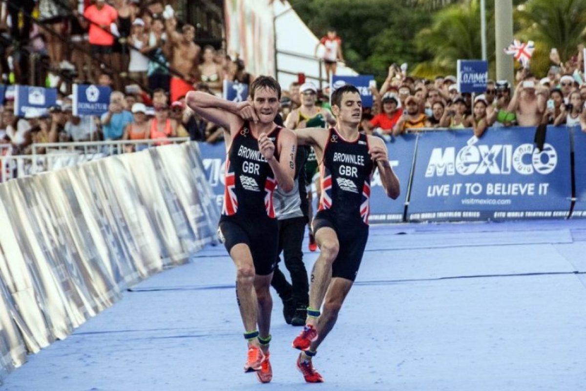 Los hermanos Brownlee son considerados entre los mejores del mundo en el triatlón. Foto:AFP