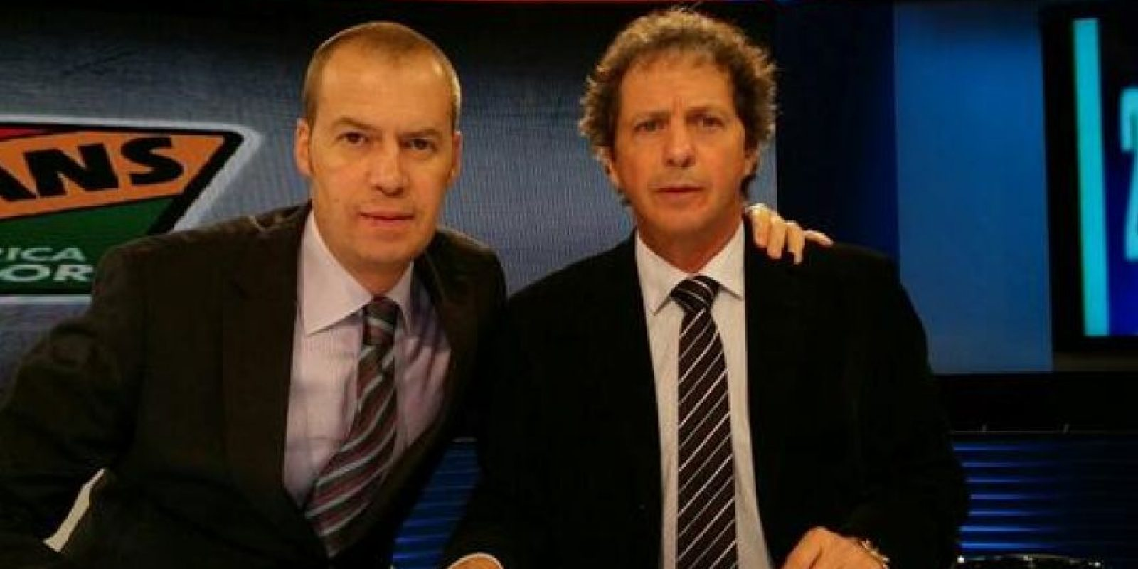 Los ánimos se caldearon entre ambos en plena transmisión en vivo de su programa. Foto:Fox Sports