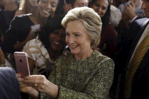 AP Foto:También hubo bromas en contra de Hillary Clinton