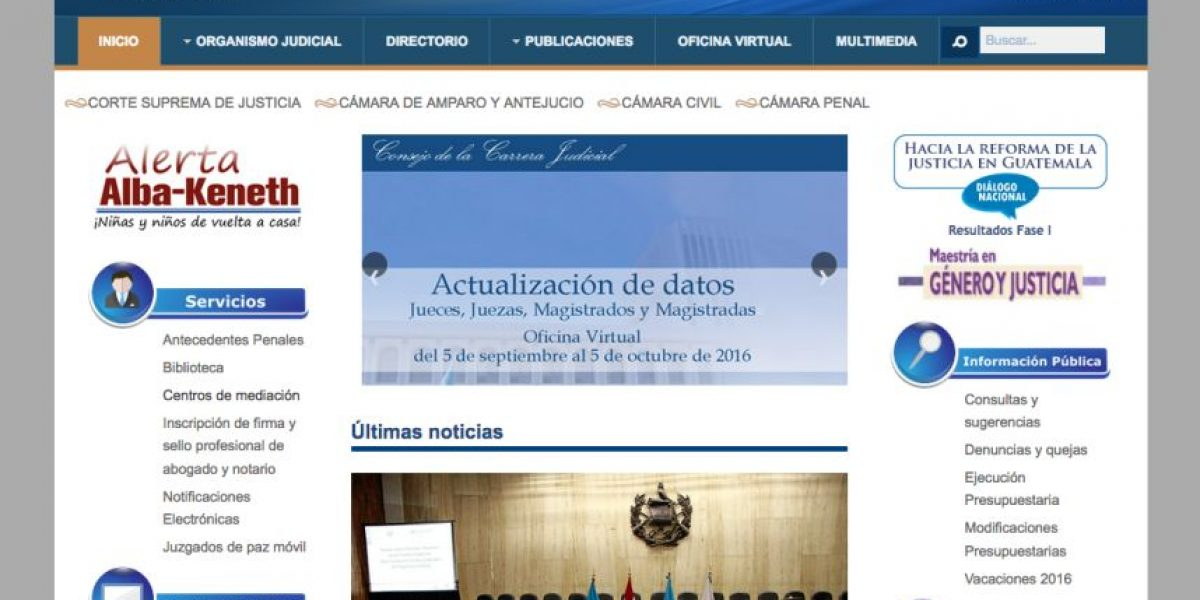 """La Corte Suprema de Justicia estrena web con """"mayor"""" acceso y disponible desde tu celular"""