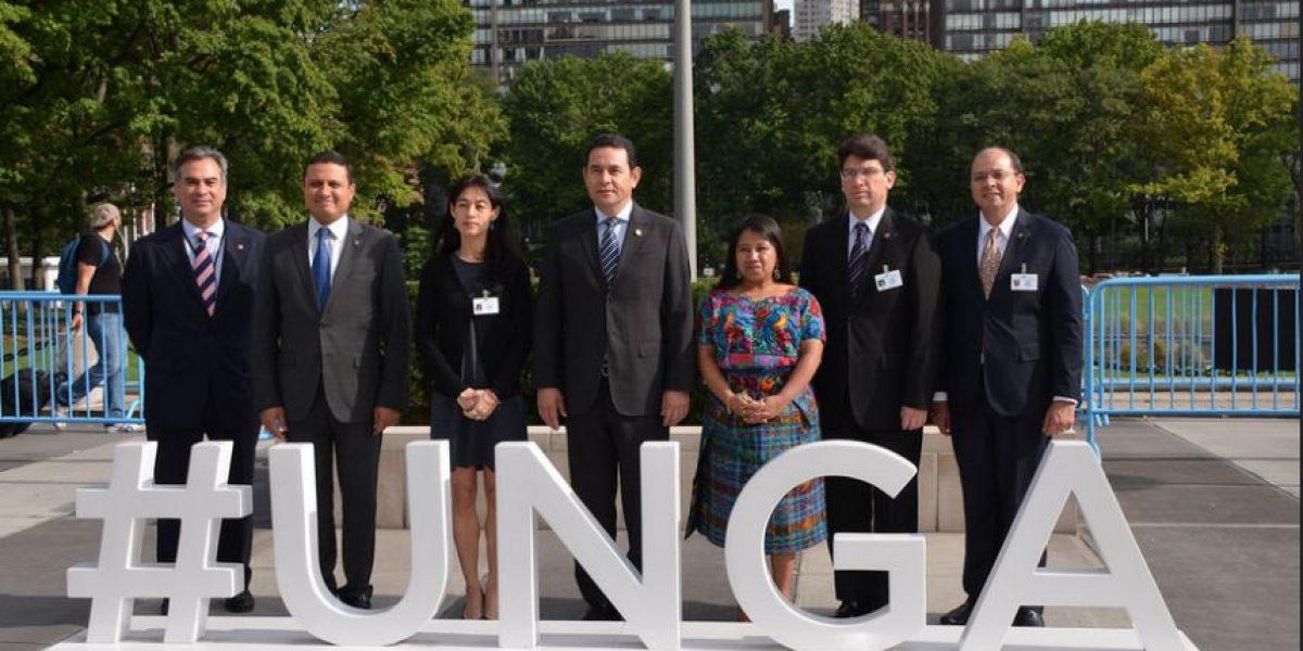 Expectativa por primer discurso de Jimmy Morales en una asamblea de la ONU