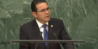 """Jimmy Morales en la ONU: """"Ya no encontramos una actitud recíproca del gobierno beliceño"""""""