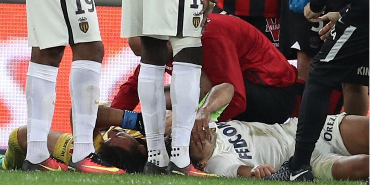 Radamel Falcao tiene un traumatismo cráneo-torácico y está hospitalizado