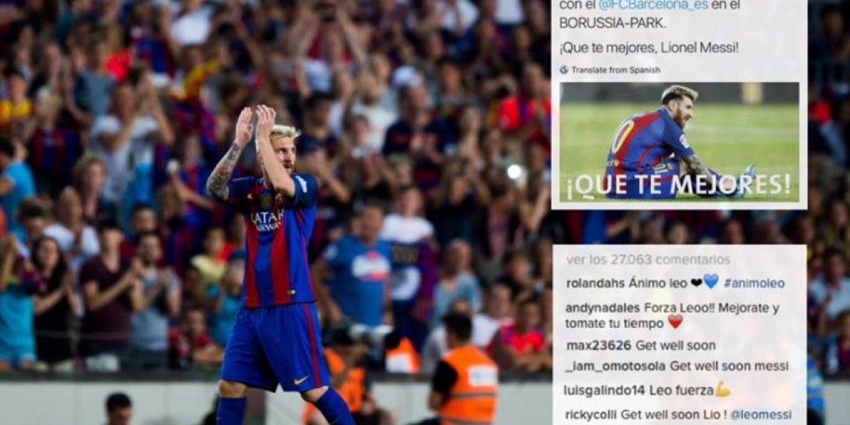 Messi agradece al Mönchengladbach ante sus más de 86 millones de seguidores