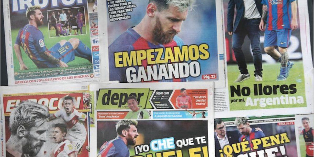 Entrenador de Argentina culpa al Barcelona por la lesión de Messi