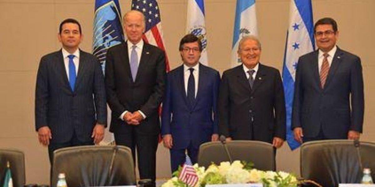 Presidentes del triángulo norte se reúnen con Joe Biden, vicemandatario de Estados Unidos