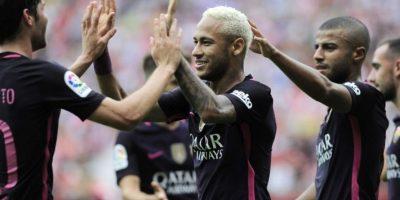 Barcelona golea en Gijón sin Messi y con doblete de Neymar
