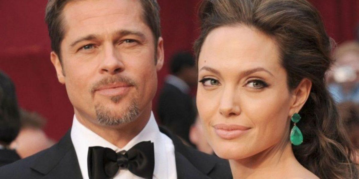 Captan contenta a Angelina Jolie a días de pedir divorcio a Brad Pitt