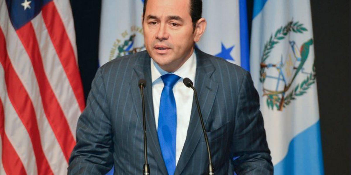 Presidente Jimmy Morales se traslada de Estados Unidos a Colombia, por firma de la paz