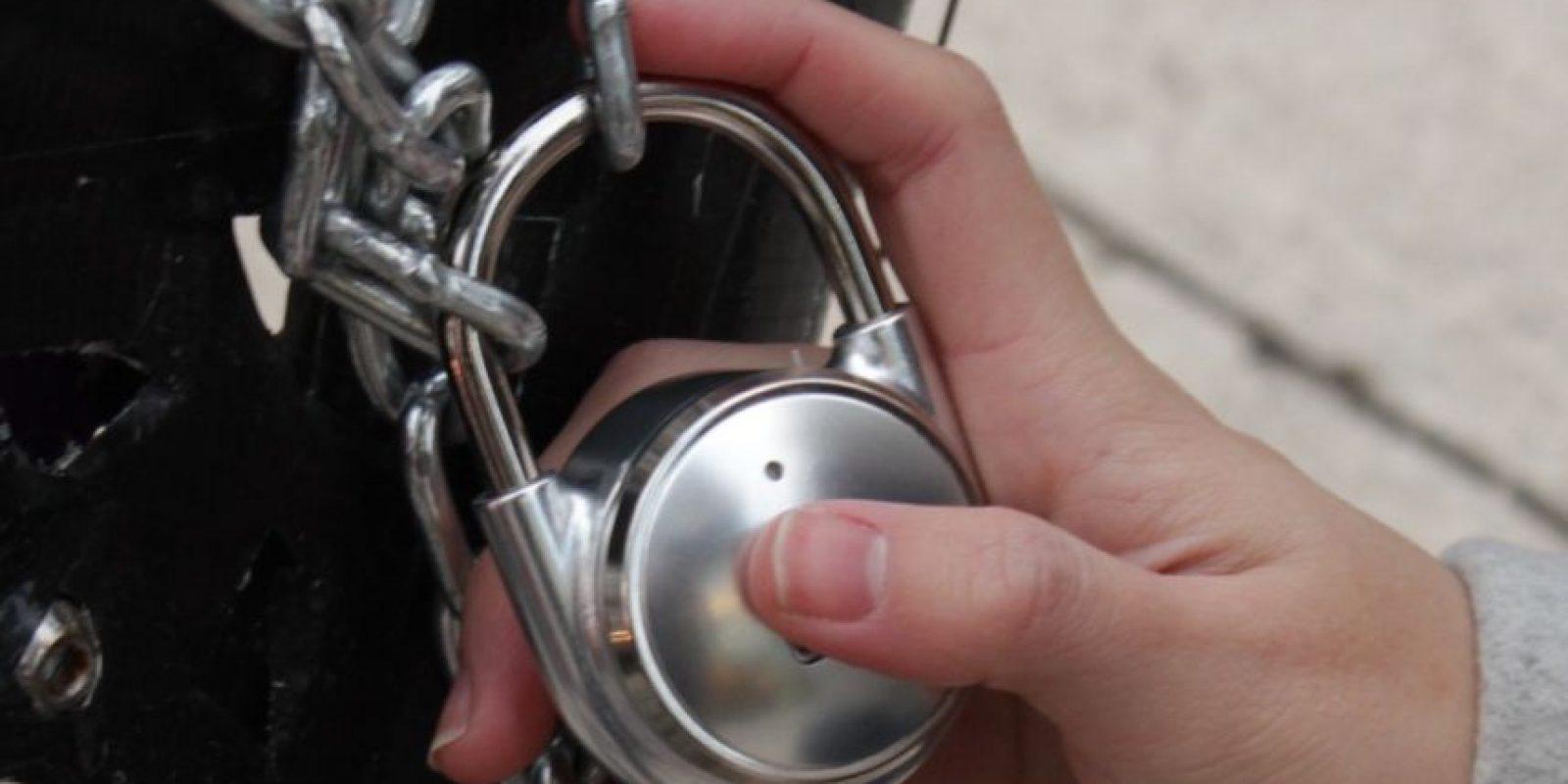 TappLock Foto:El candado TappLock utiliza tu huella dactilar para mantener tus pertenencias a salvo.